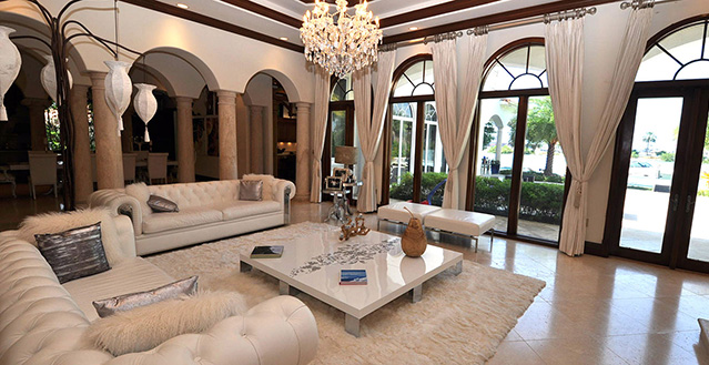 South Beach Florida Mansion Rental With 9 Bedrooms Close